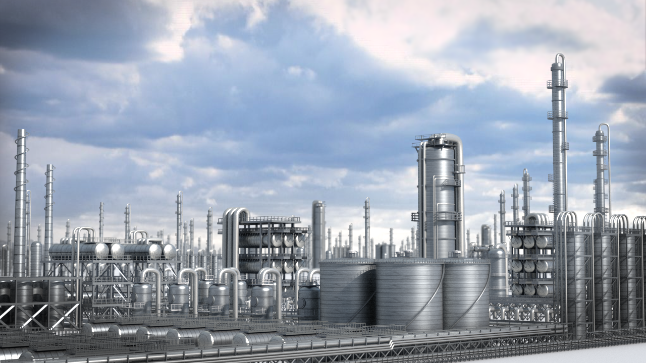 Petrochemical Plant- All aspects. Modeled in Houdini. Rendered in Mantra. Composited in Nuke.