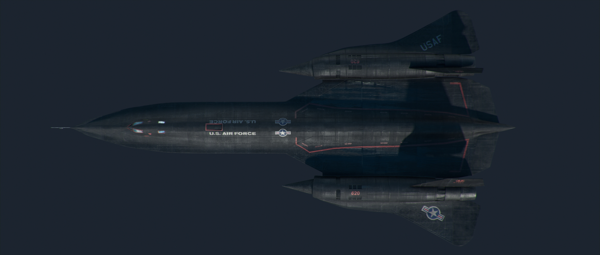 SR-71 - Modeling. Modeled in Maya. Textured by Clint Rea