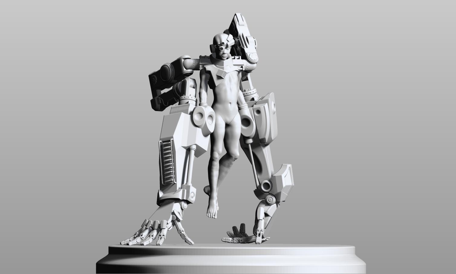 Mek -ID - All aspects. WORK IN PROGRESS.Sculpted in Zbrush. Retopologized in Topogun. Rendered in Keyshot. Concept by Lucian Stanculescu