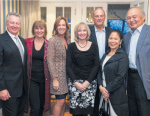 From L to R: Paul LaBarge (chair, TCT); Valerie Pringle (co-chair, TCT Foundation); Sandi Treliving; Mrs. Laureen Harper (TCT honorary campaign chair); Jim Treliving; Donette Chin-Loy; Raymond Chang.