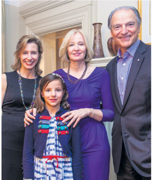 From L to R: Janelle Lassonde; Laurelle Lassonde; Mrs. Laureen Harper (Honorary Campaign Chair); Pierre Lassonde.
