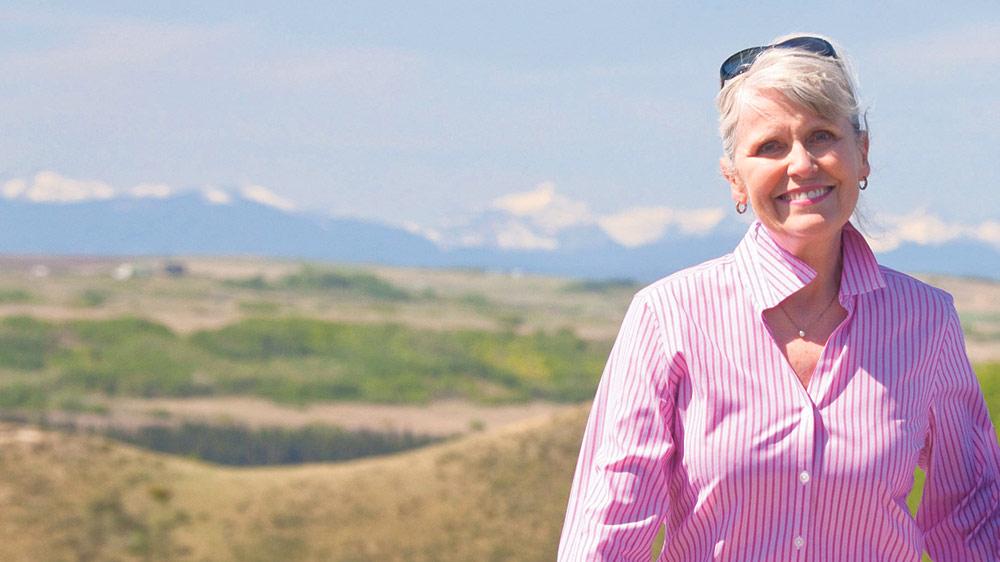 Deborah Apps on the Glenbow Trail in Alberta. ANDREW PENNER