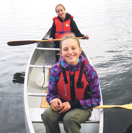 Thirteen-year-old Amelie Sarauer (front) loves to paddle the Trail near Saskatoon. SUPPLIED