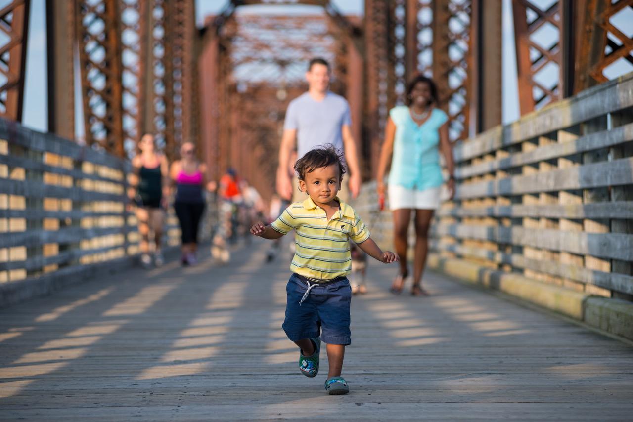 Bill Thorpe Walking Bridge,Fredericton NB,by Fredericton Tourism