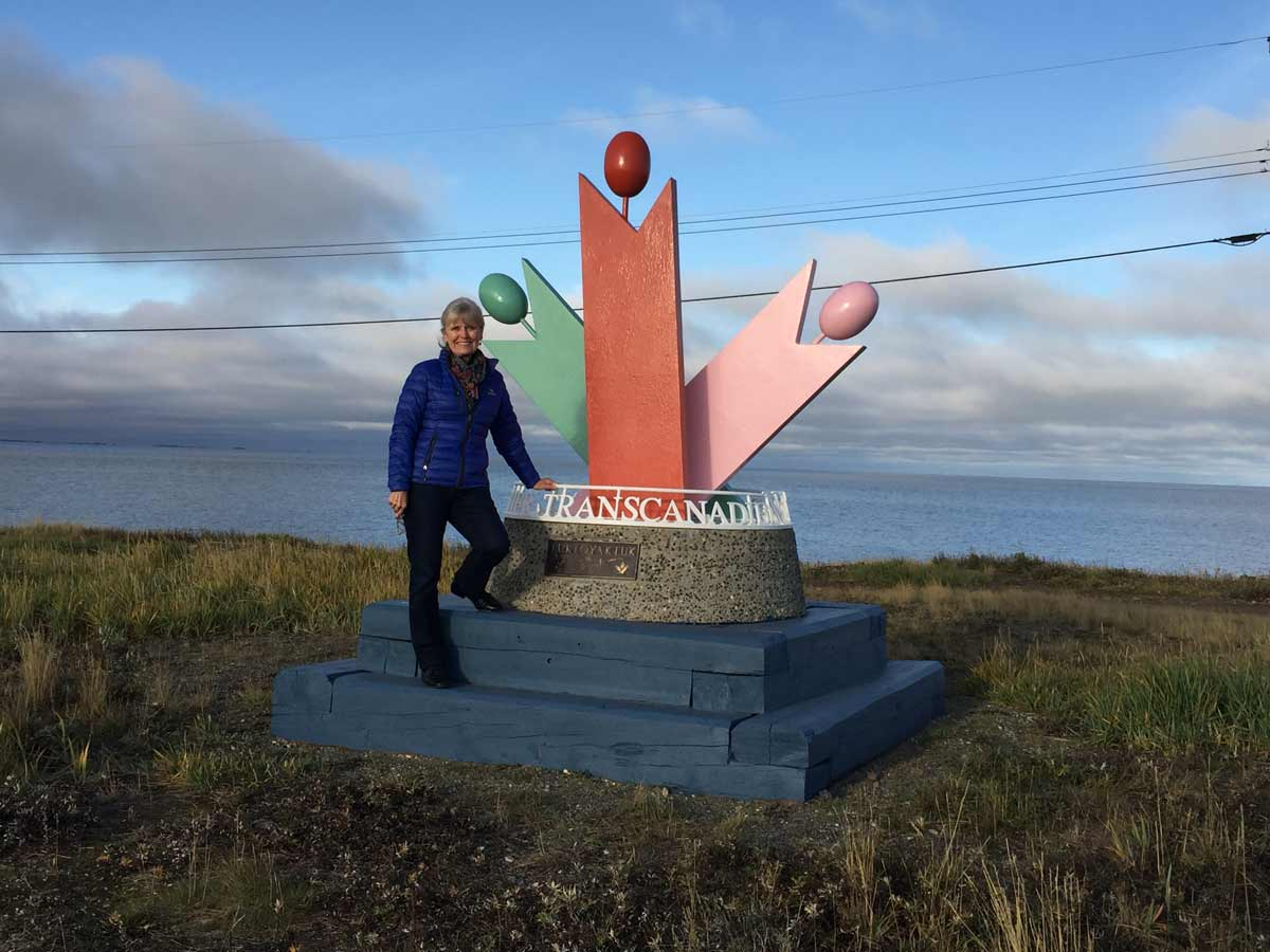The Great Trail is bringing economic benefits to every province and territory in the country, says TCT president and CEO Deborah Apps, pictured here in Tuktoyaktuk, NWT. SUPPLIED