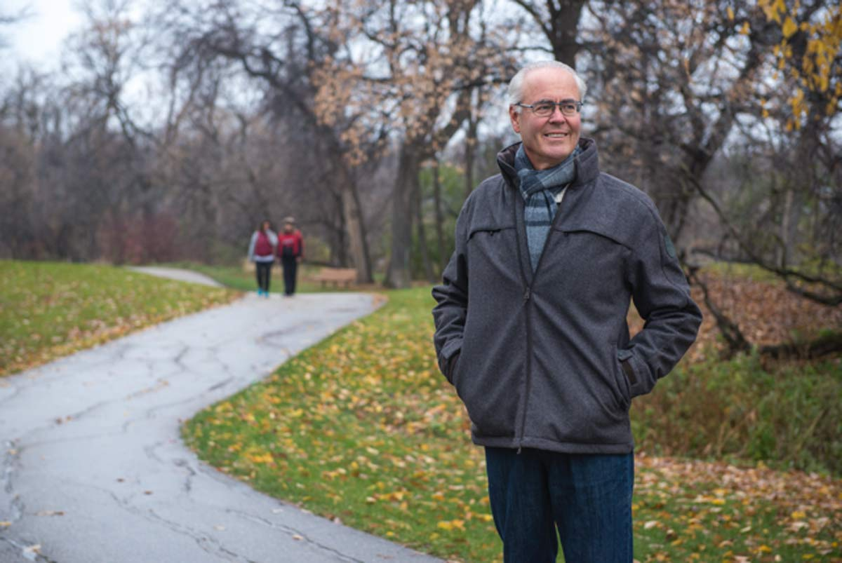 TCT Foundation co-chair Hartley Richardson says The Great Trail's future will continue to depend on donor support and volunteer dedication. THOMAS FRICKE