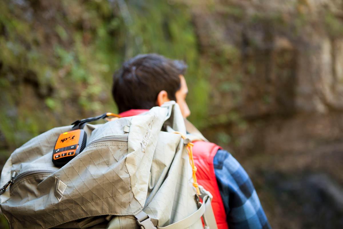 SPOT Gen3 on a backpack