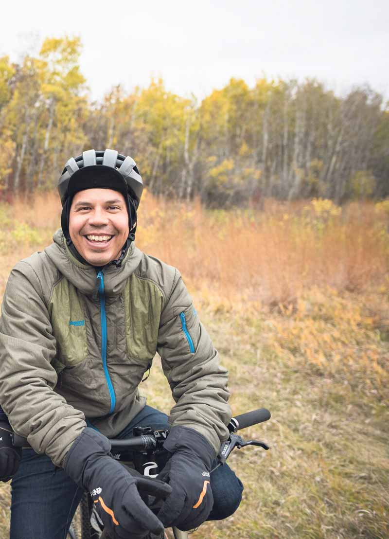 Winnipeg's Adrian Alphonso believes cycling on The Great Trail builds valuable connections to the outdoors and heritage.  DANIEL BAYLIS