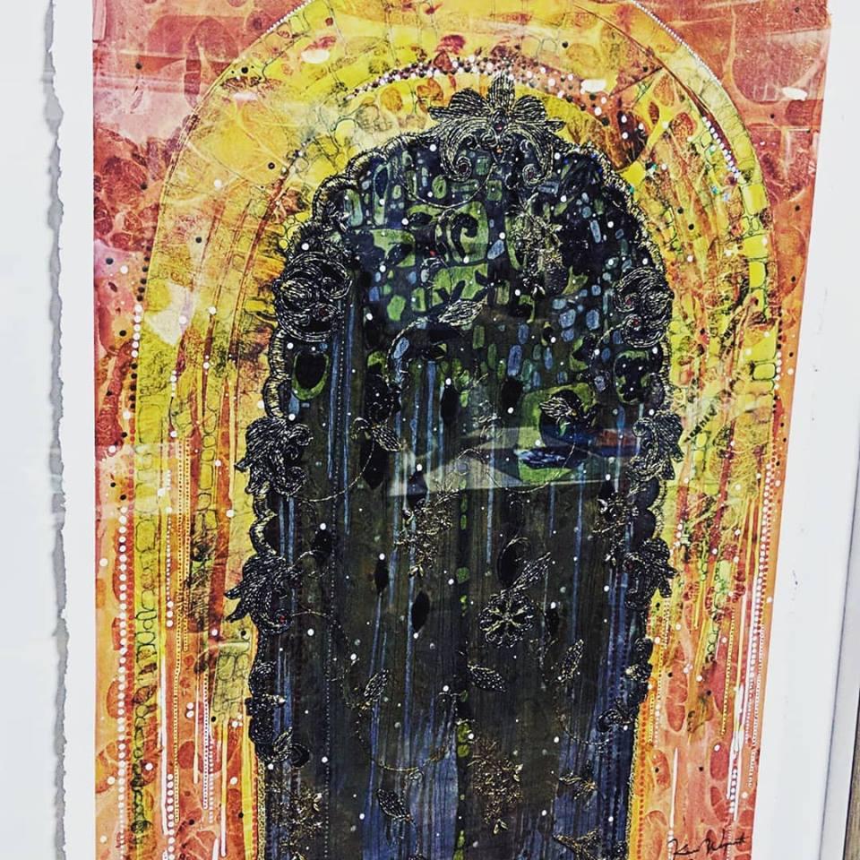 Kerri Weymouth's prize winning artwork - mixed media