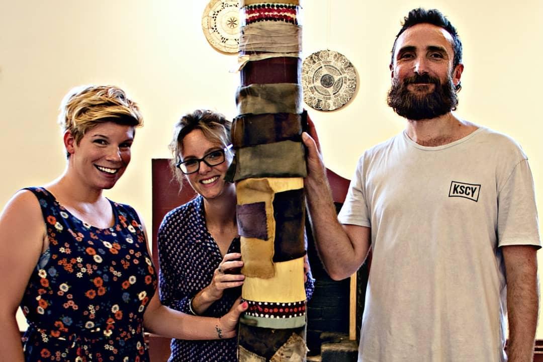 Steph Cooke MP visiting MURRU at the Narrandera Arts Centre.