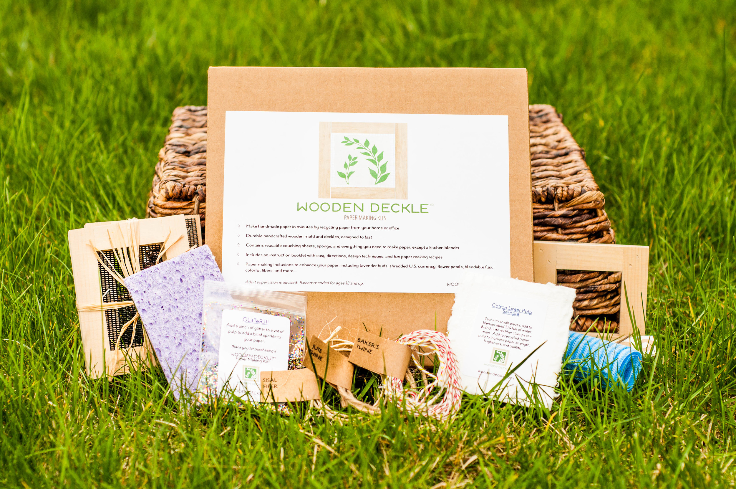 business card and gift tag paper making kit