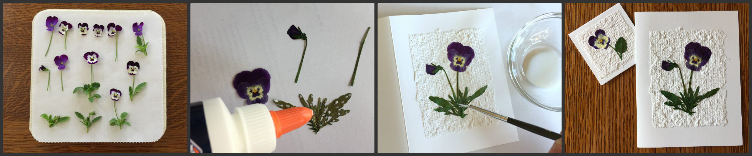 DIY pressed flower cards