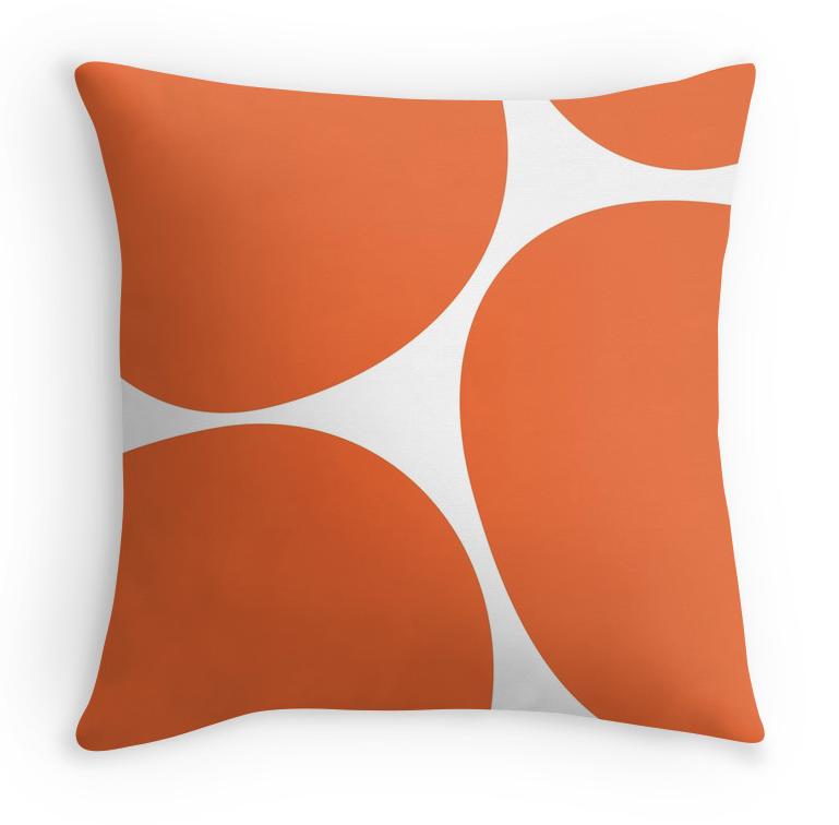Big Dots Orange pillow