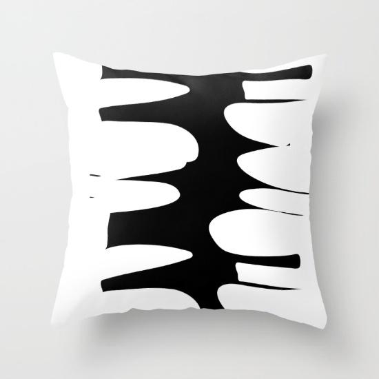 Precarious pillow in B&W