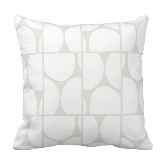 Dots Squared white & gray throw pillow
