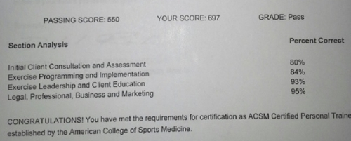 How I Passed The Acsm Cpt Certified Personal Trainer Exam