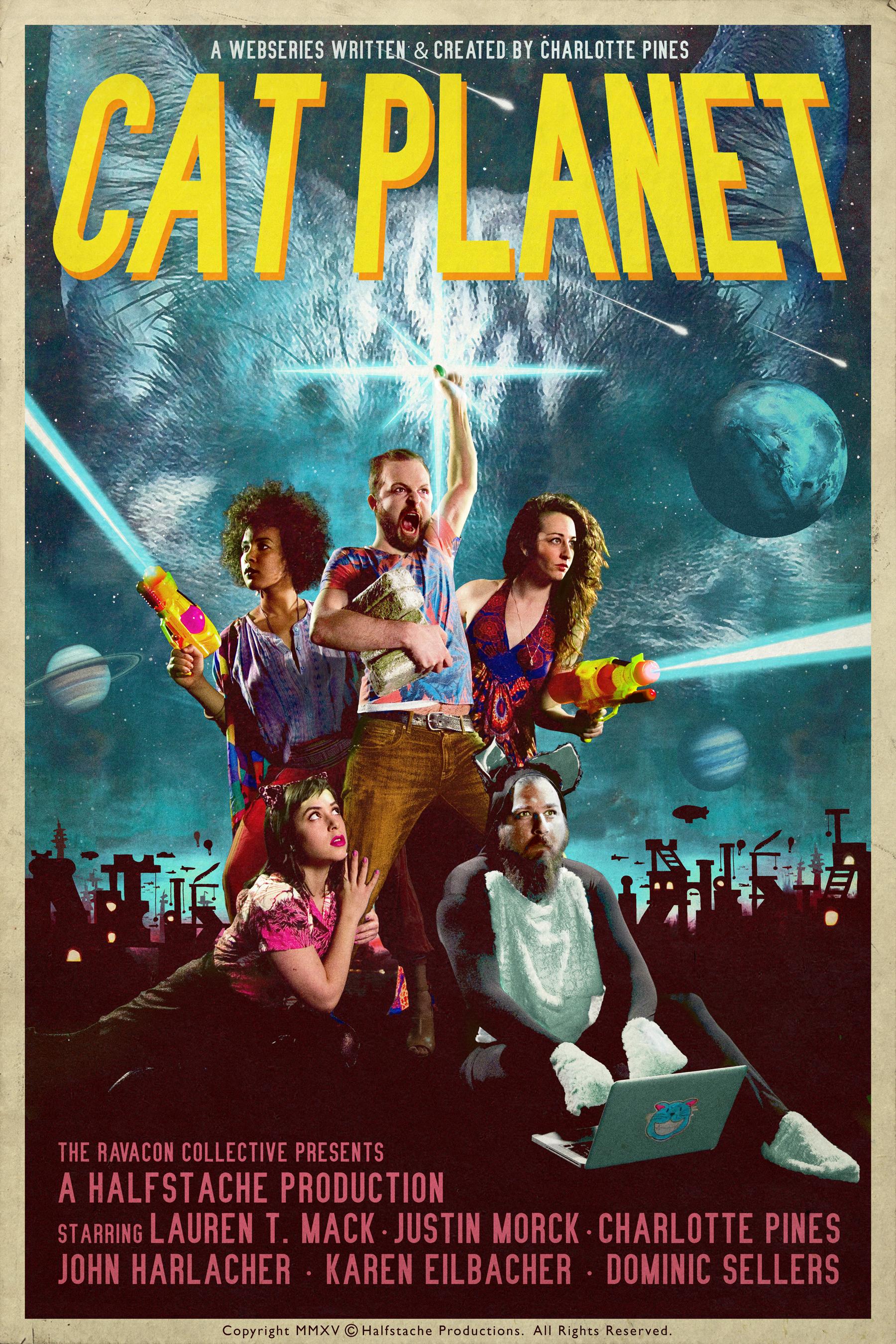 Left to Right: Karen Eilbacher, Charlotte Pines, Justin Morck, Lauren T. Mack, and John Harlacher. Poster design by Christopher Phelps.