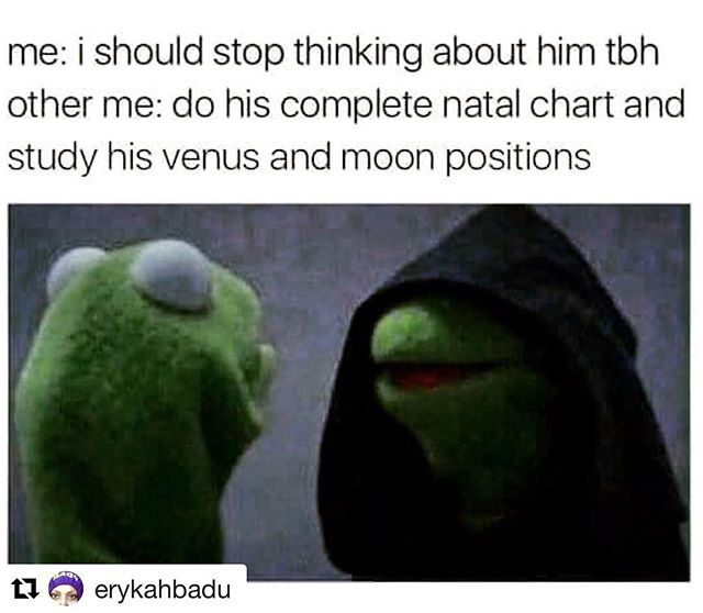 a show of hands plz, who is reading my diary 😑🔮🌌🤷🏻‍♀️ . #astrology #boys #tooreal #kermit #kermitmemes #evilkermit #natalchart #sunsign #moonsign #risingsign #zodiac #horoscope #getoutofmyhead #whomadethis