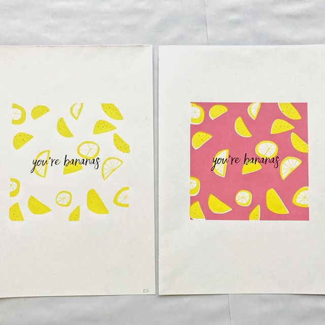 #tb to last summer when I made this fruity little print 🍋🍌