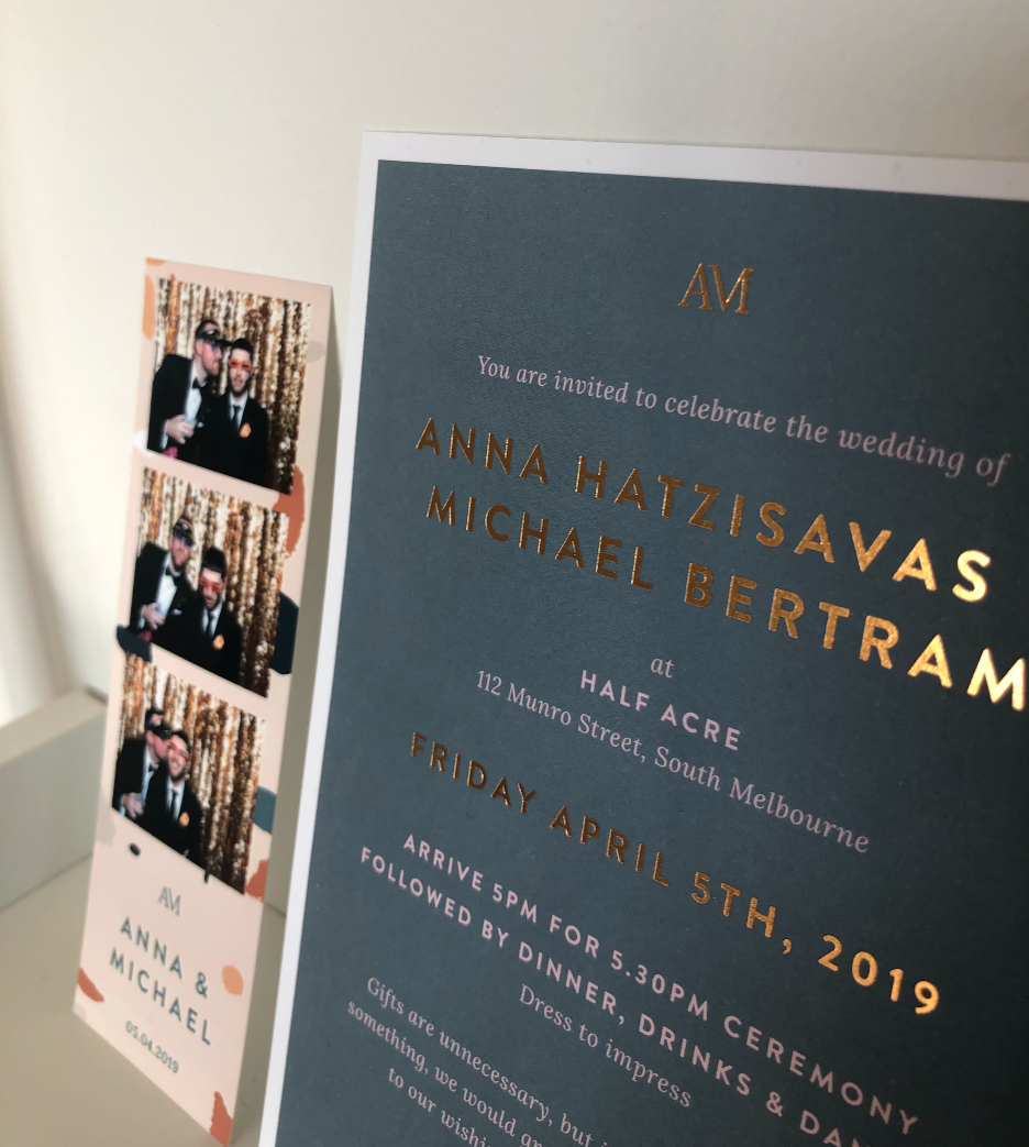 This photo does not do the printing of the invitation justice!