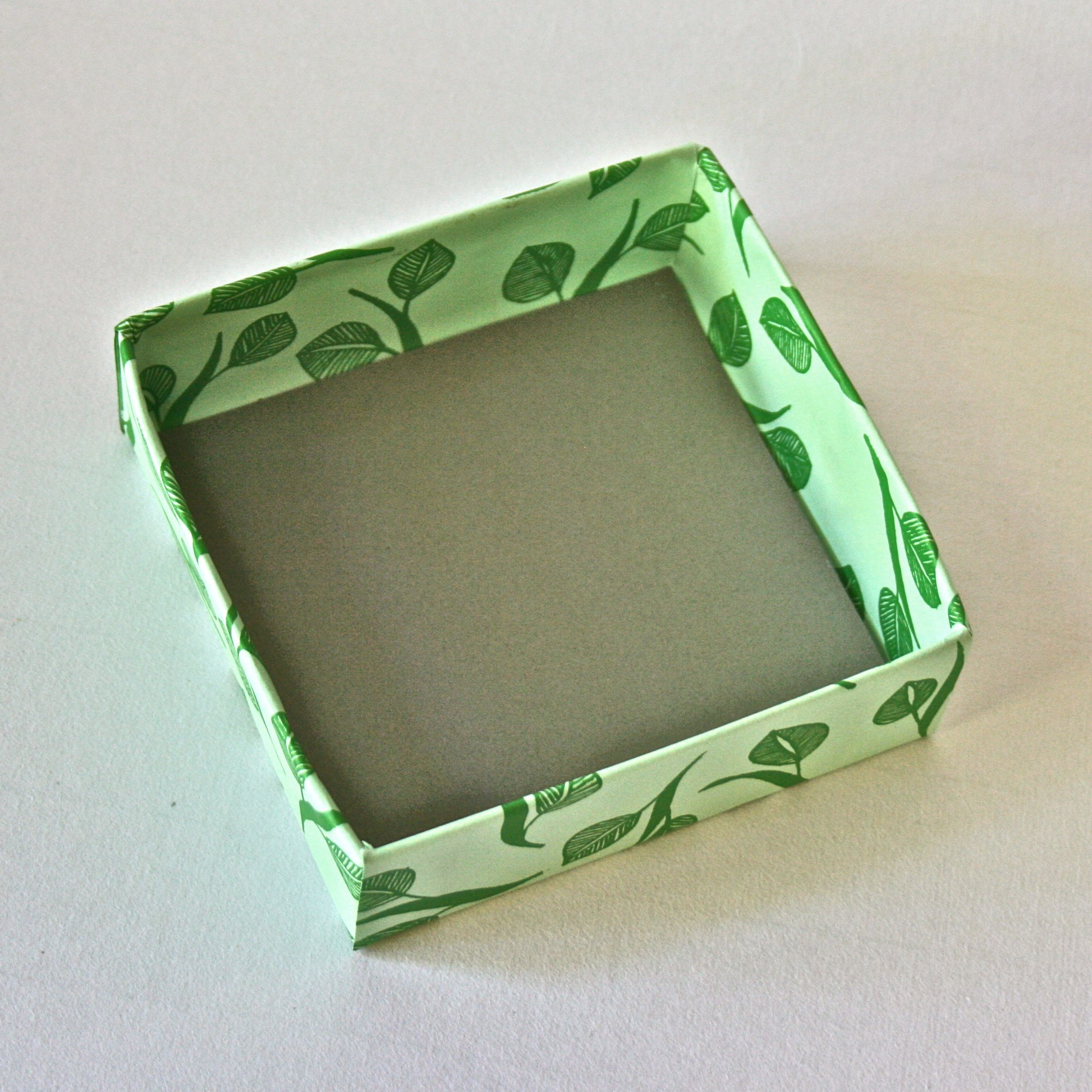 Transform any shape or size of an existing box into a decorative and unique gift box