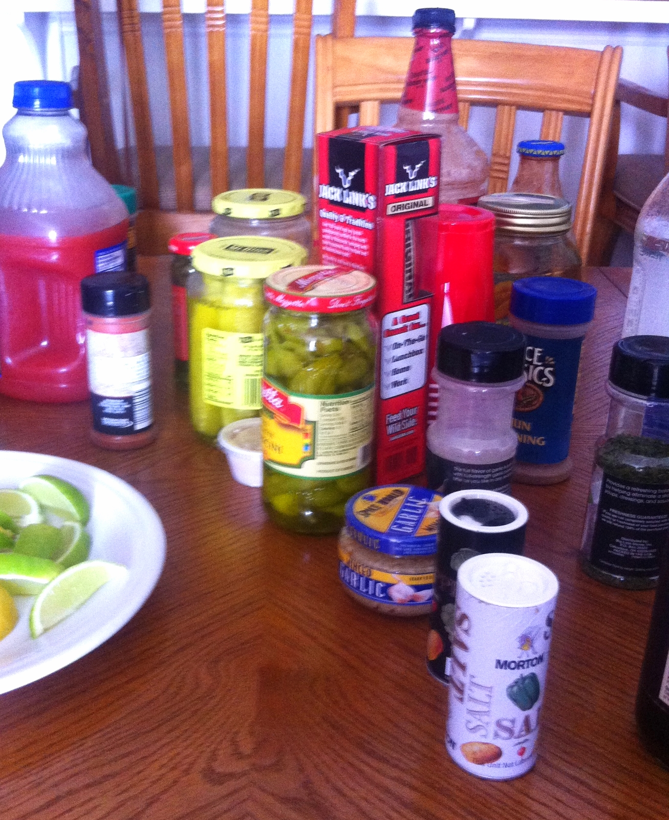 some of the bloody mary ingredient options