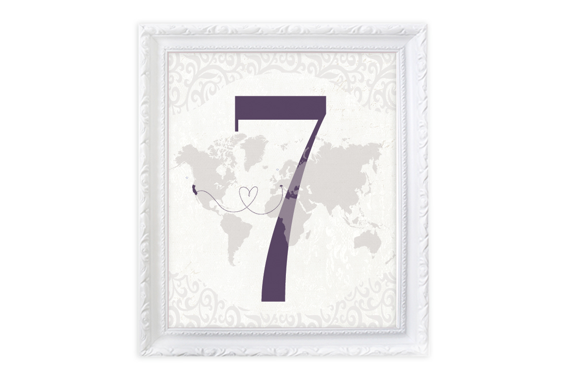 Custom Table Numbers   -  Custom Colors and Designs