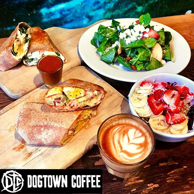 Dogtown Coffee + Food has the best organic breakfast on the Westside! So stop by and take a bite of our Munchies Burrito!  #dogtowncoffee #coffee #coffeelovers #acaibowl #munchieburrito #santamonicabeach #santamonica #santamonicacoffee #santamonicabreakfast #coffeeshopvibes #skateboarding #surfing #dtcsaltydog #breakfastsantamonica #veniceboardwalk