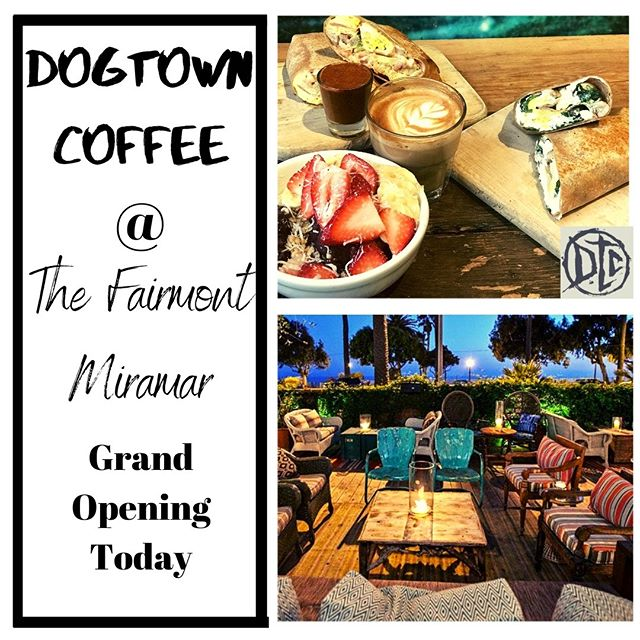 We are overjoyed to announce the opening of the new Dogtown Coffee location at the  Fairmont Miramar in Santa Monica! We invite all of our local community and to those who are locals at heart, to stop on by and enjoy our added location which brings a new facet to the Dogtown Coffee experience.  #dogtowncoffee #coffee #coffeelovers #acaibowl #munchieburrito #santamonicabeach #santamonica #santamonicacoffee #santamonicabreakfast #coffeeshopvibes #skateboarding #surfing #dtcsaltydog #breakfastsantamonica #veniceboardwalk #fairmontmiramar #onlyatthemiramar #grandopening #grandopeningcoffee