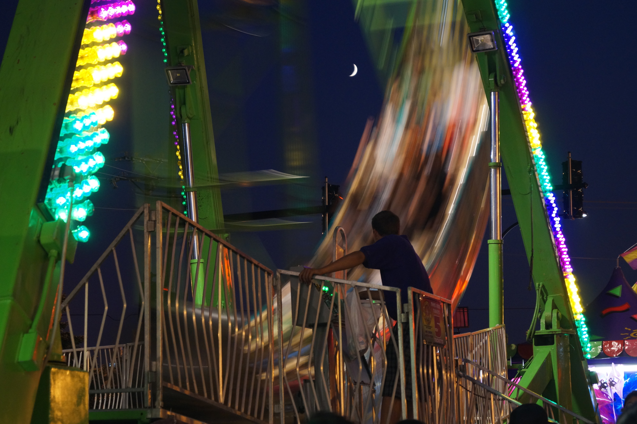 Mechanical Ride at night