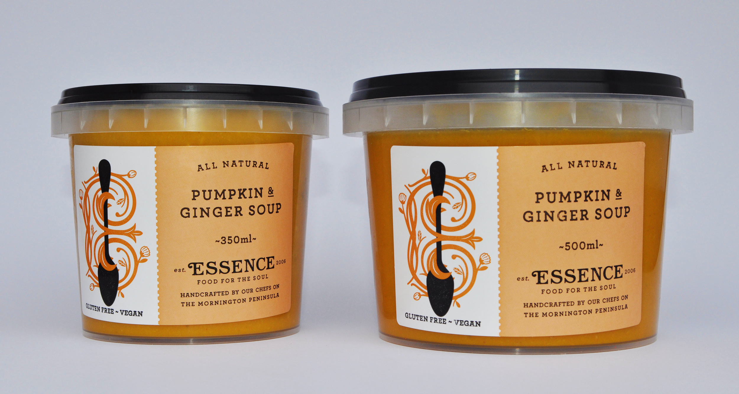Pumpkin & Ginger Soup    350ml Container or 500ml Container/Pouch [GF, Ve]