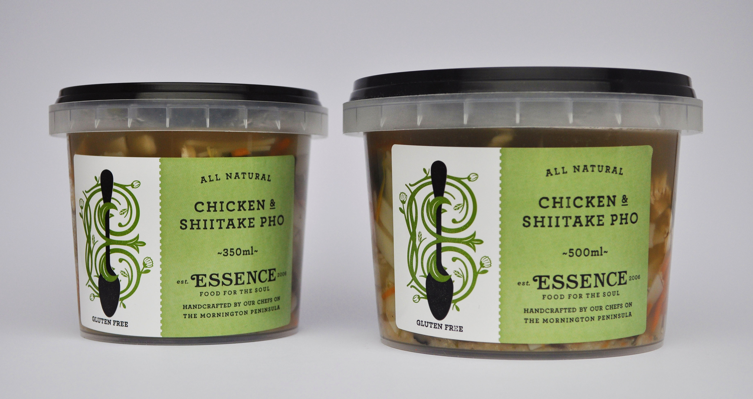 Chicken & Shiitake Pho  350ml Container or 500ml Container/Pouch [GF]