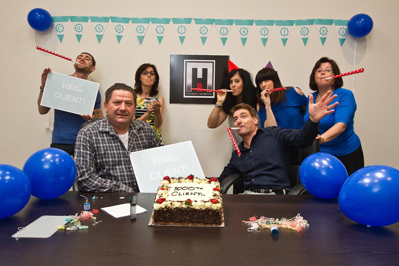 1000th client celebration
