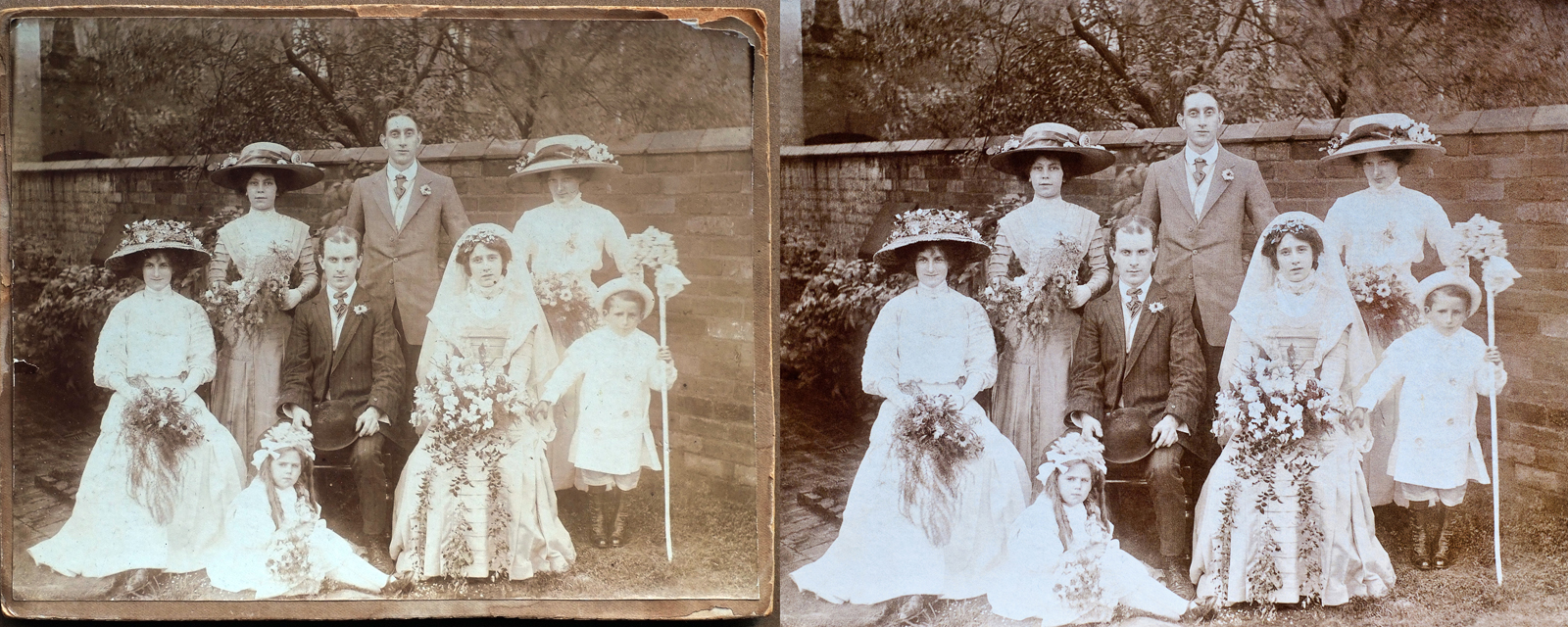 Restoring Old Photographs