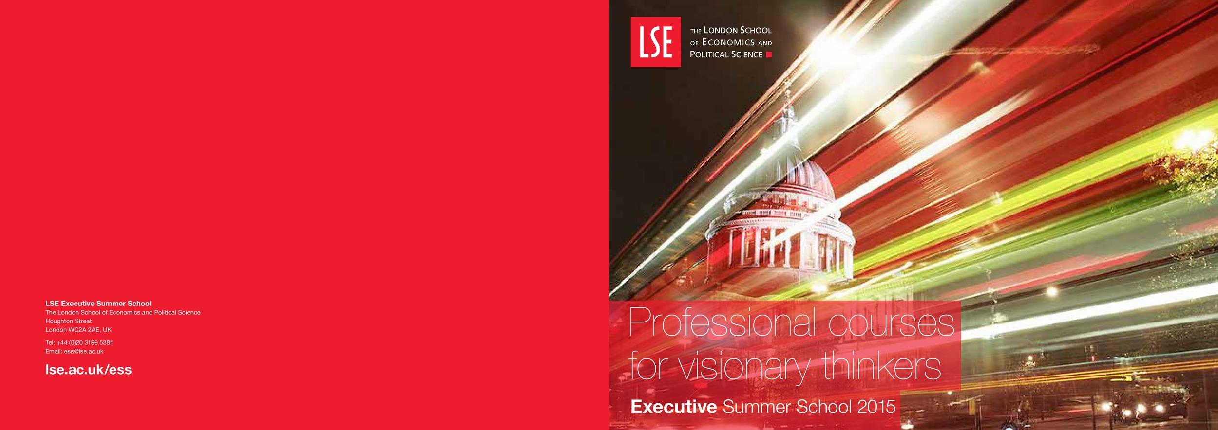 London School of Economics LSE Brochure