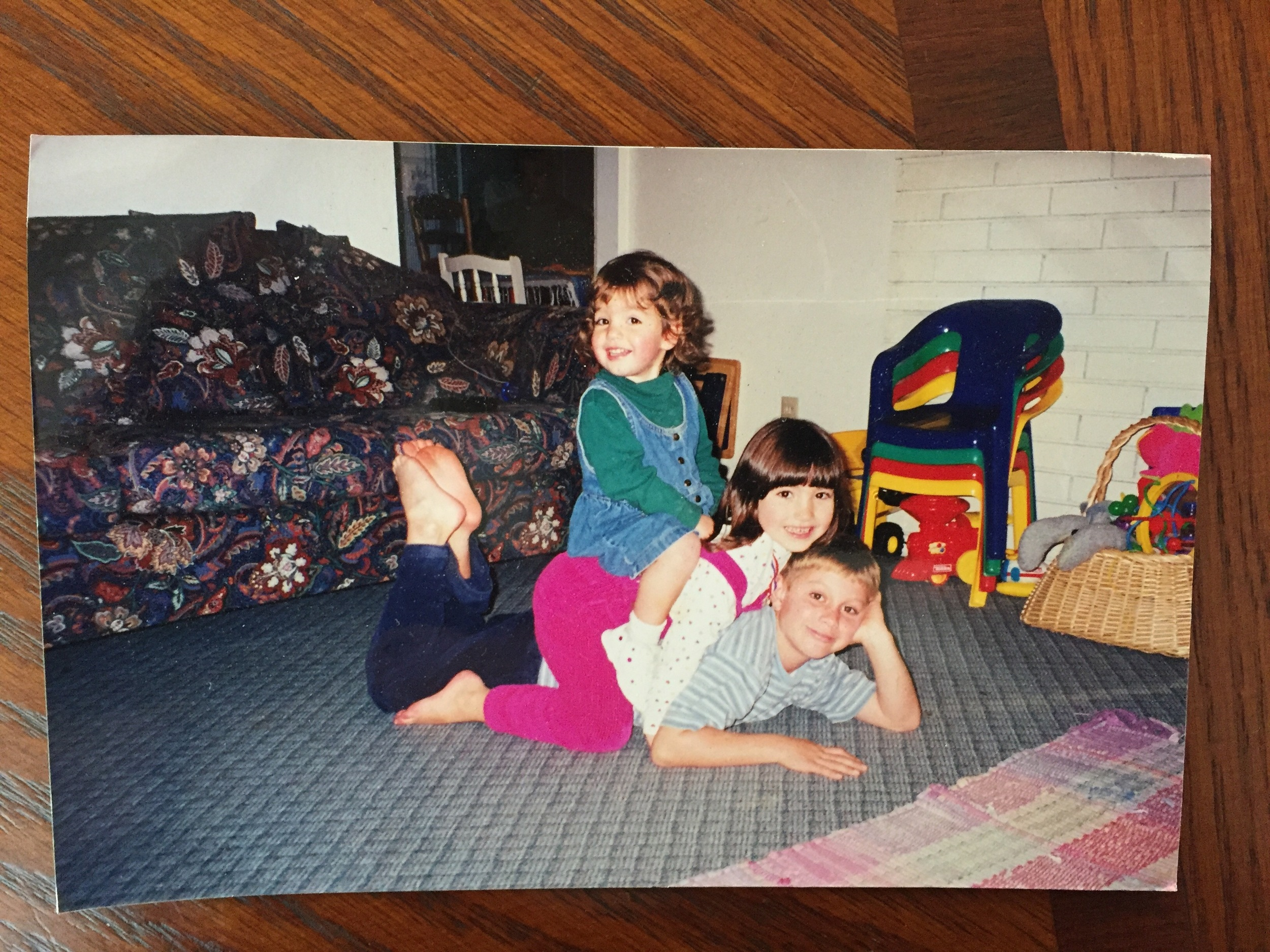 :: My sister, cousin, and I in Juanita, Washington circa 1999 ::