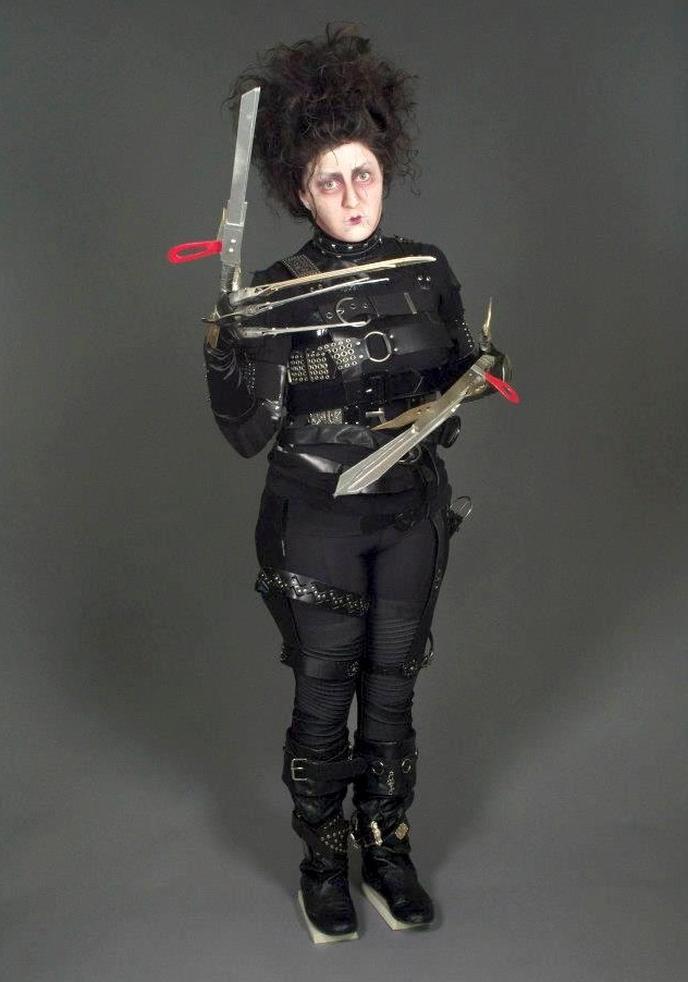 Edward Scissorhands  Found and recycled materials