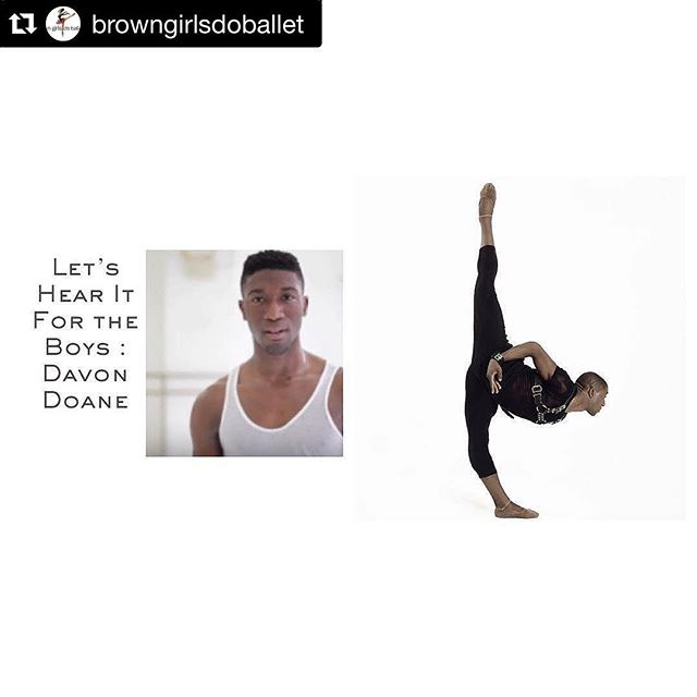 #Repost @browngirlsdoballet with @repostapp. ・・・ It's a Let's Hear it for the Boys!Friday special feature from @loveofdancetv featuring @davonwdoane! Listen to Davon tell his story to Sarita Lou on our blog! (*link in bio) and give both @loveofdancetv and @davonwdoane a follow! Photo credit: @bryantaylorjohnson #brownboysdoballet #brownboysdancetoo #blackboysdance #fortheloveofdancetv #letshearitfortheboys.  Catch the link for Davon's episode in our bio @dancetheatreofharlem