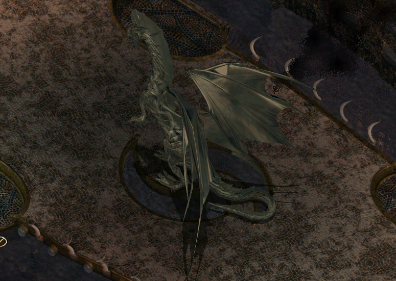 "There. A dragon. Because ""Dungeons and Dragons"" is in the name, and ""Dragons"" is a pretty significant part."