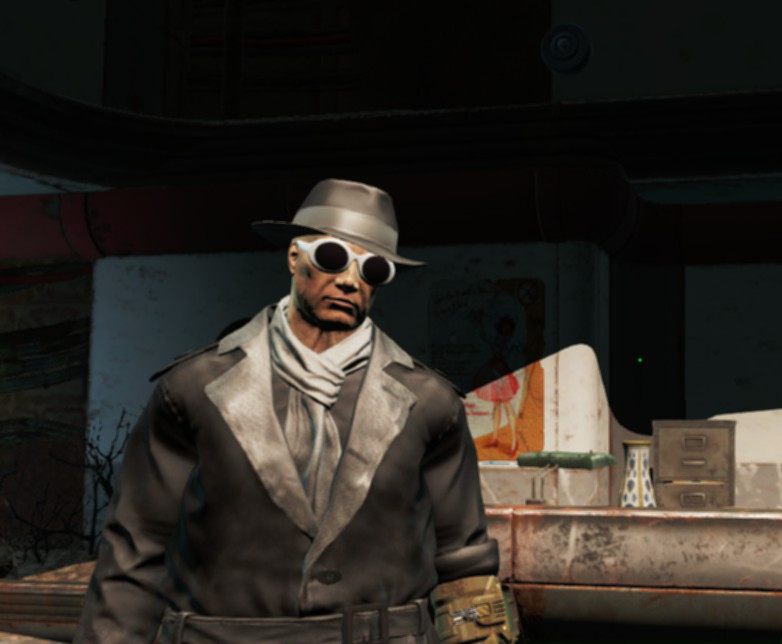 Fallout 4 is a serious game about serious matters, as you can see by my serious outfit.