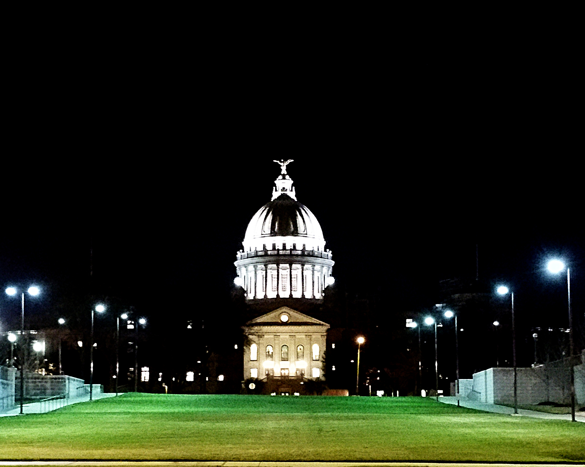 The State Capitol, shrouded in darkness for what it has done.