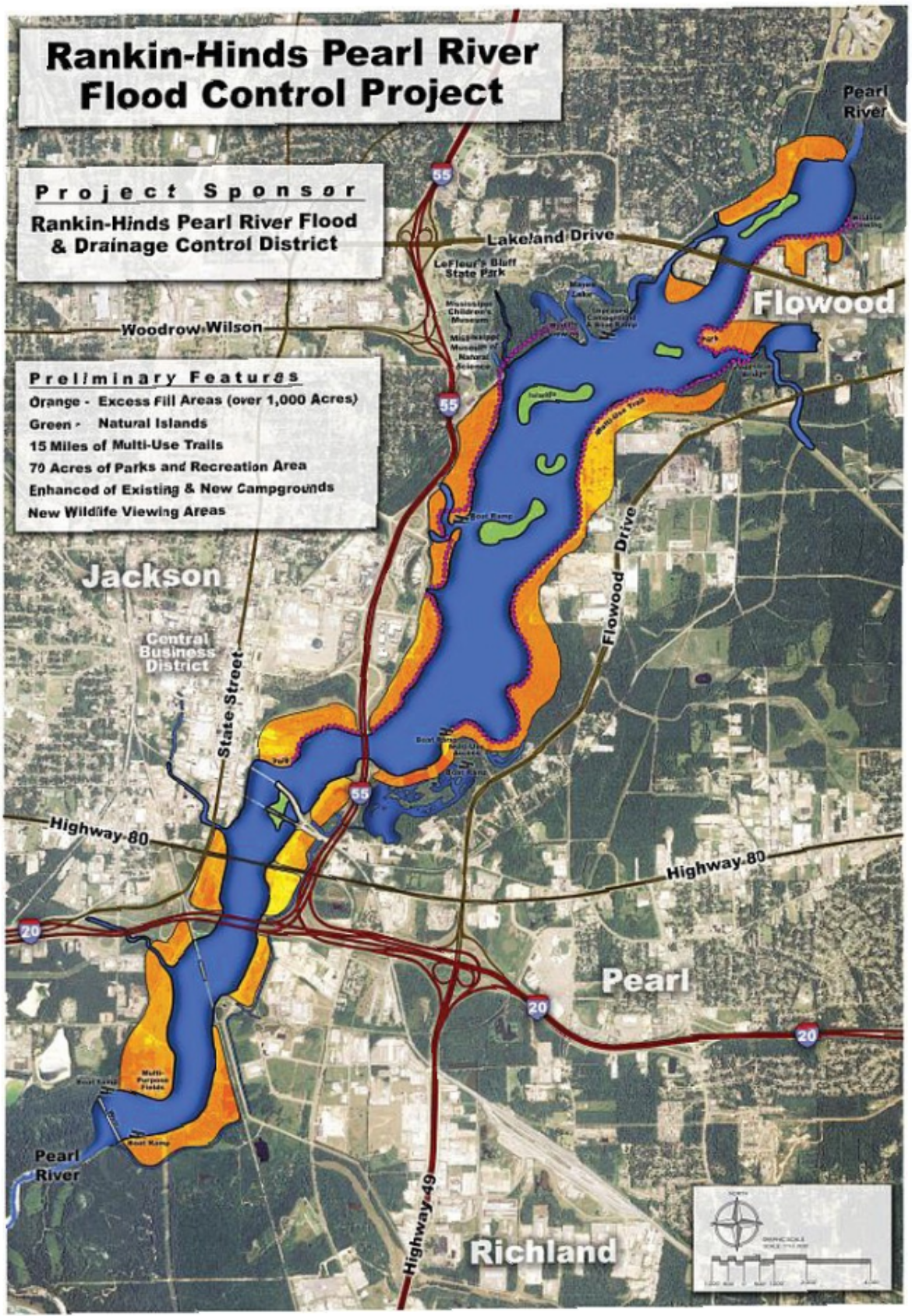One Lake Plan Image provided by Pearl River Vision Foundation