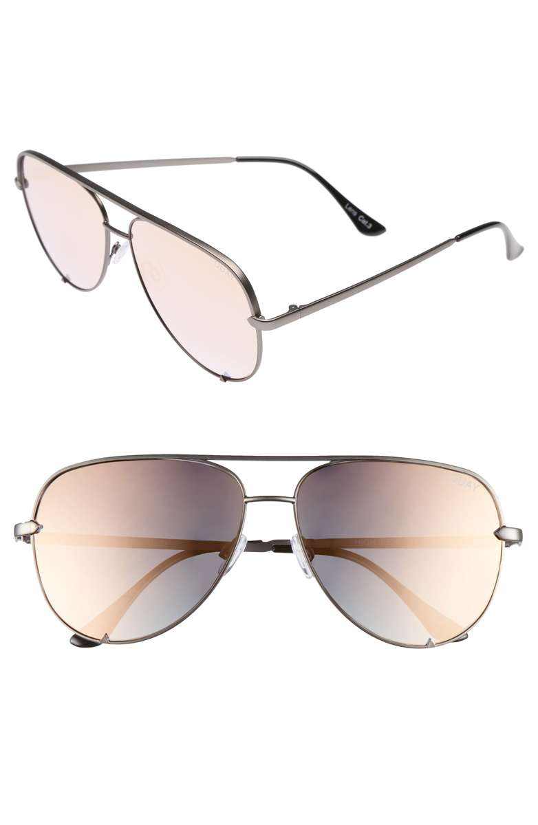 Quay High Key Rose Gold Sunglasses