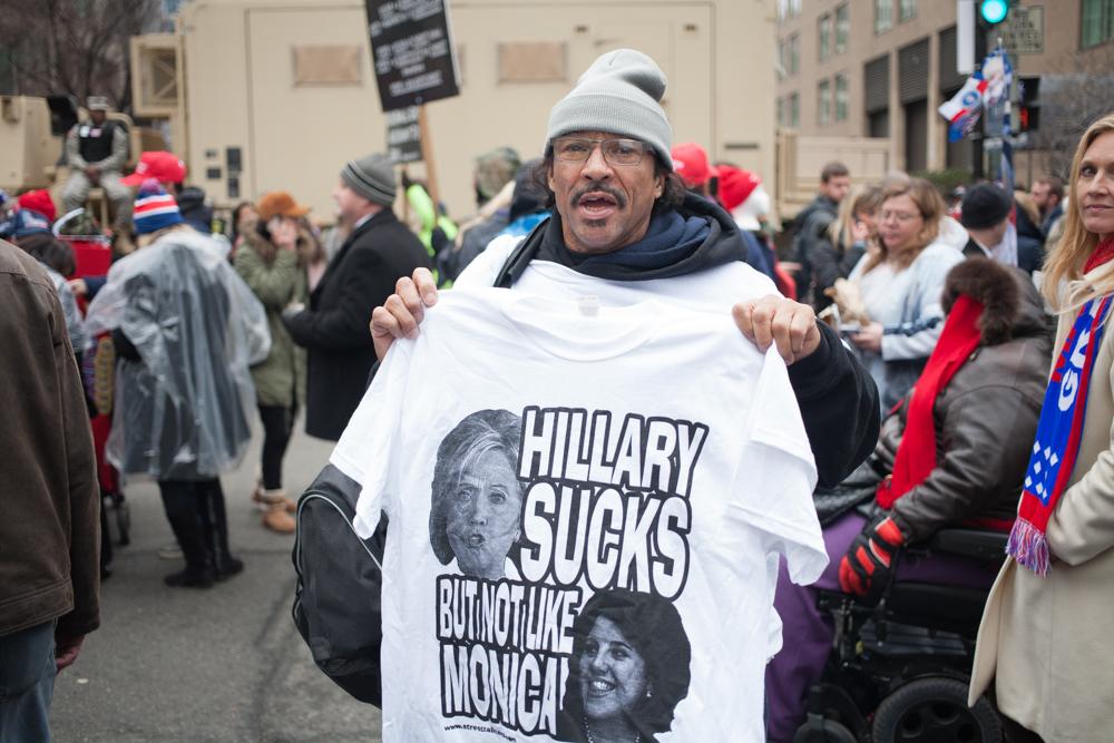 A novelty T-Shirt hawker.