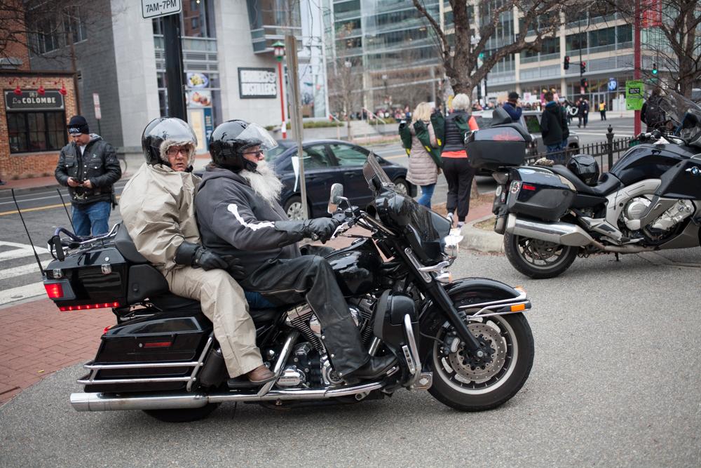 Bikers for Trump arriving in DC.