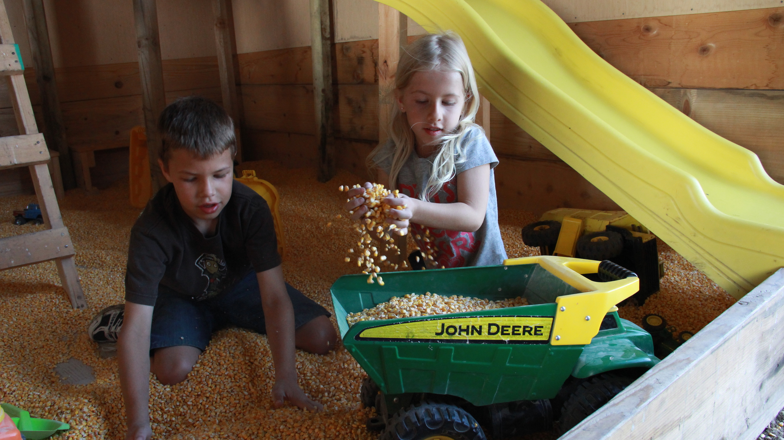 Play facilities in the Party Shed are available for young children, even preschool age.