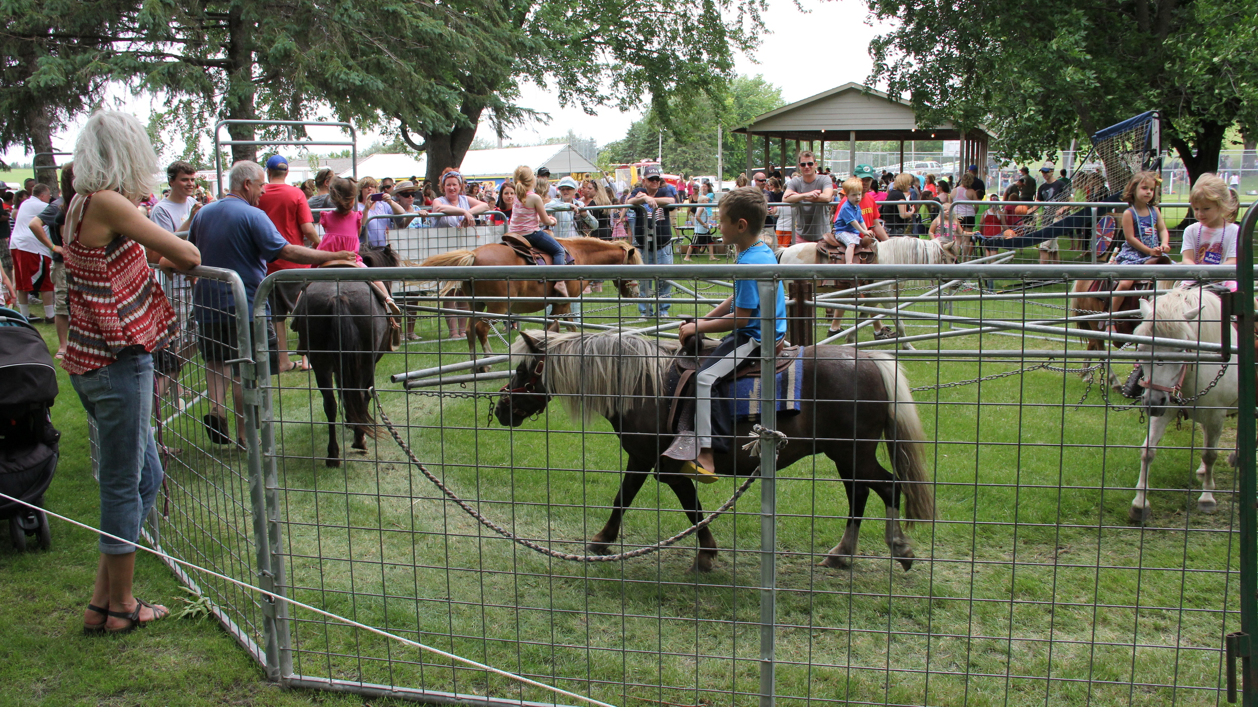 The pony rides are popular at public events like this Fourth of July Celebration.