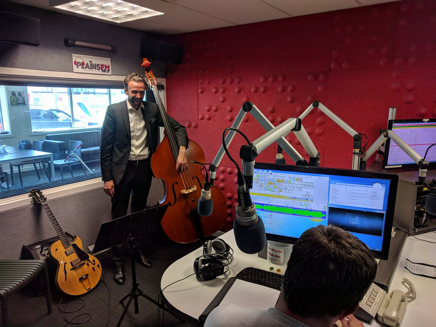 In the Plains FM 96.9 radio studio in Christchurch NZ performing live on the  Expanding Horizons  show. Click here to listen to the  podcast