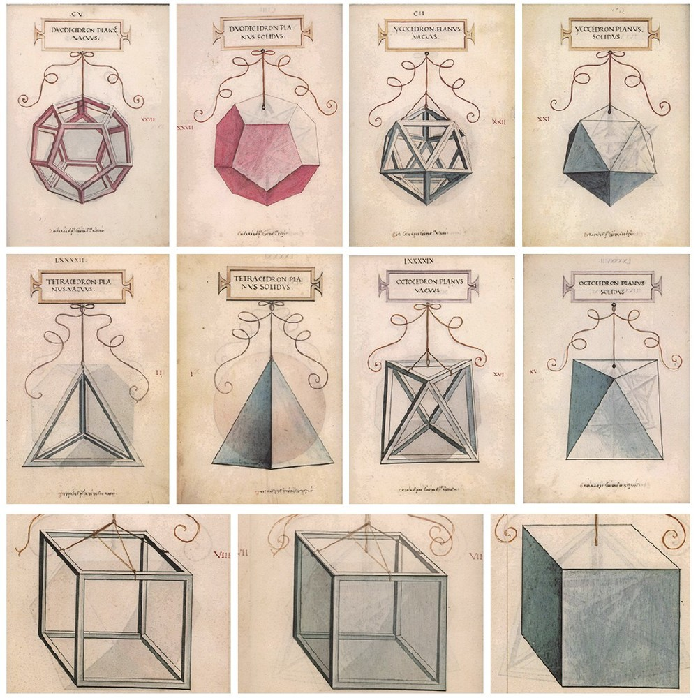 Algunos ejemplos de las ilustraciones en De Divina Proportione