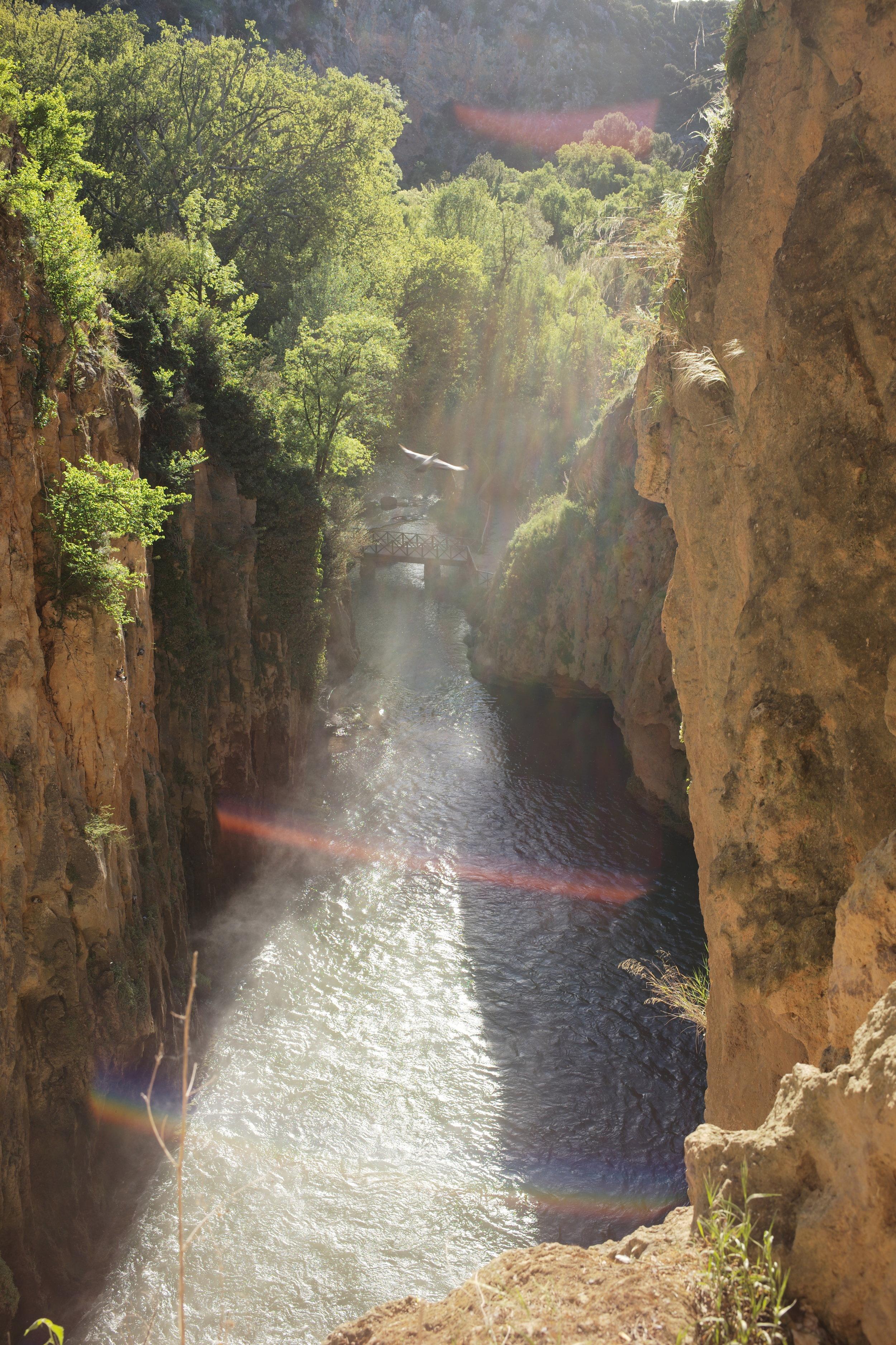 La Cascada Cola de Caballo, en el Monasterio de Piedra, se habilitó para poder ser recorrida por su parte alta e incluso trasera.